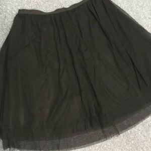 Black tulle full skirt
